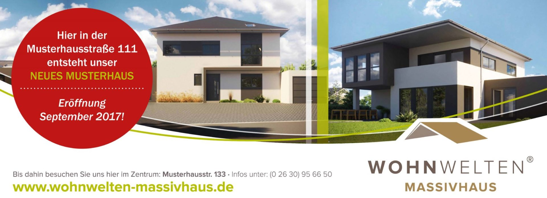 Neues Musterhaus für die Wohnwelten Massivhaus GmbH