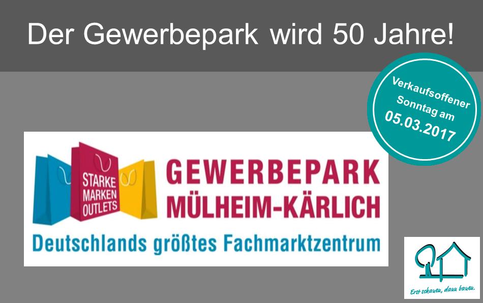 Der Gewerbepark wird 50 Jahre – Familien-Einkaufstag am 05.03.2017