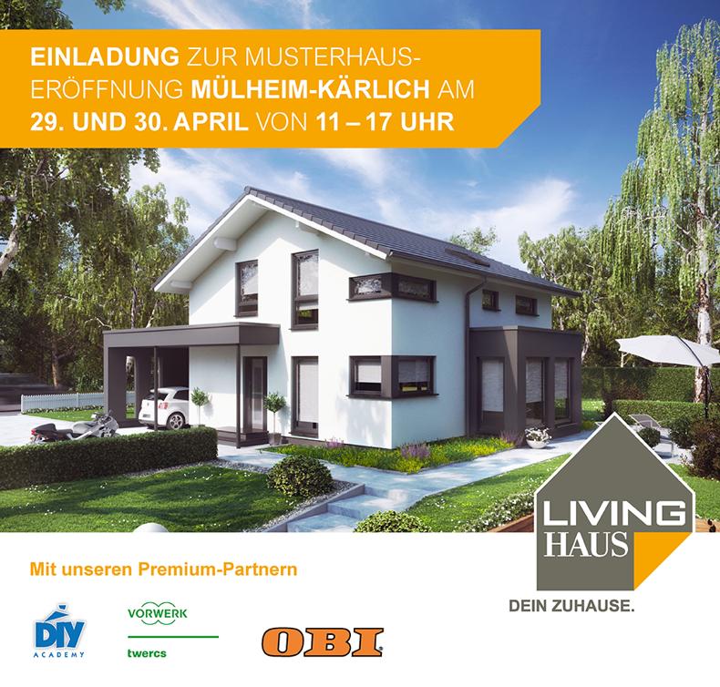 Neues Musterhaus der Firma Living Haus feiert große Neueröffnung