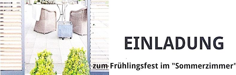 Metallbau Zengler feiert Frühlingsfest am 26.+27. Mai 2017 ab 11:00 Uhr