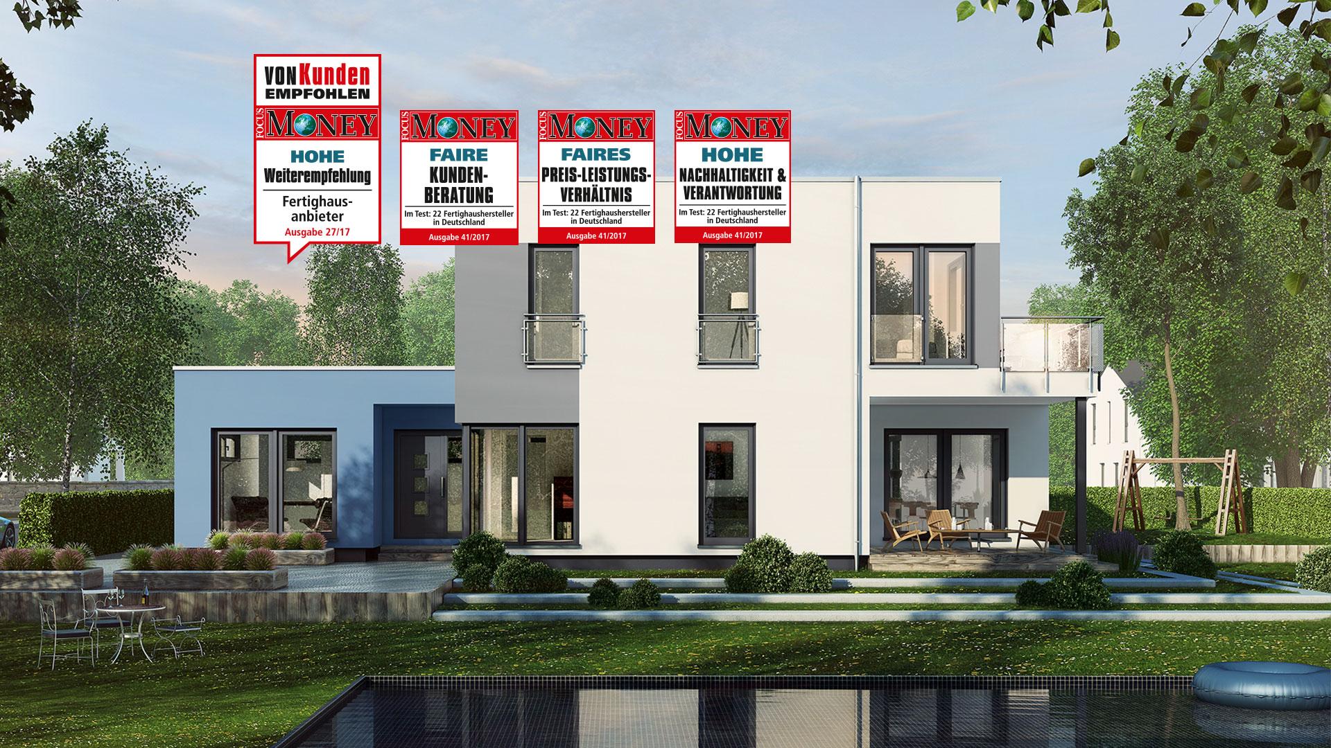 einfamilienhaus planungsvorschlag mit garagenanbau musterhauszentrum mk. Black Bedroom Furniture Sets. Home Design Ideas