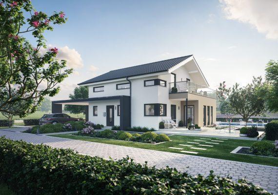 Neues Musterhaus der Firma Schwabenhaus
