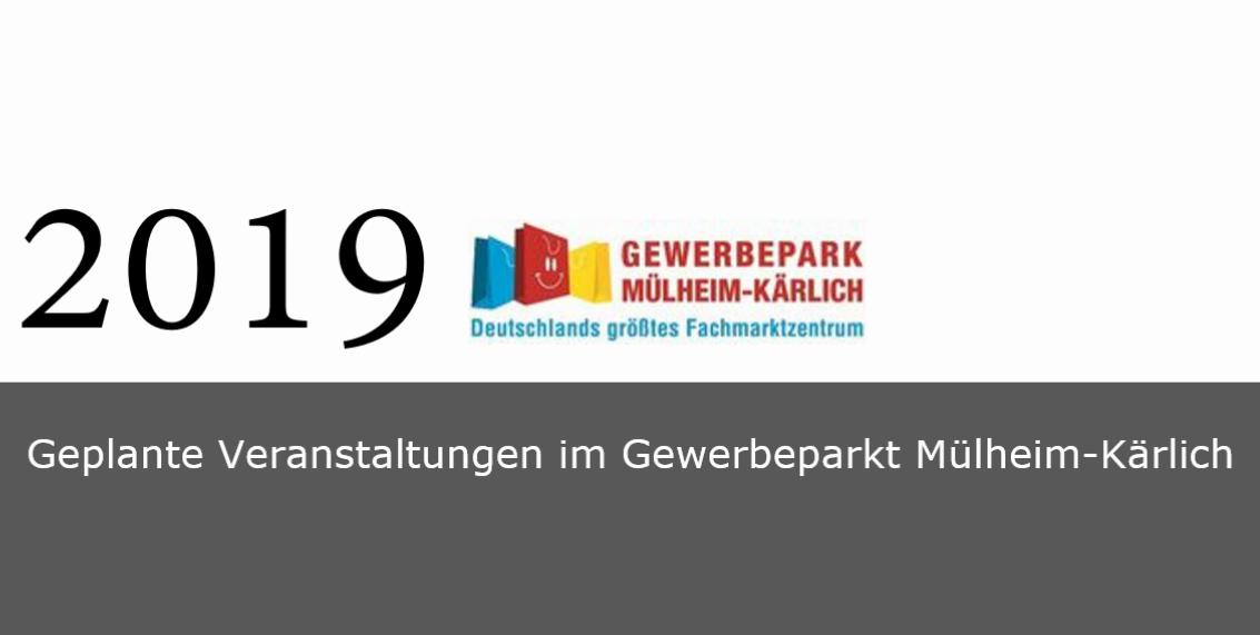 Geplante Veranstaltungen im Gewerbepark Mülheim-Kärlich 2019