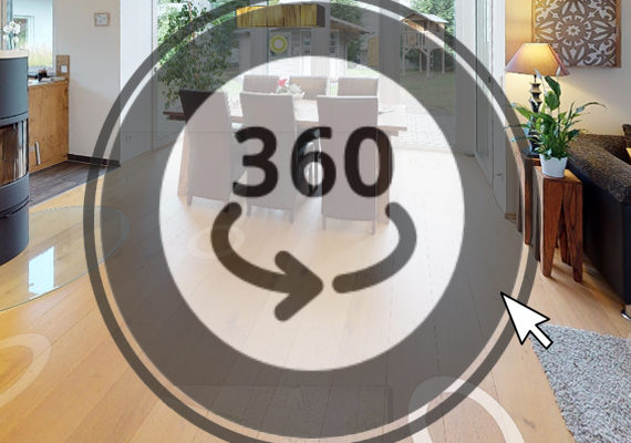 NEU! Der 360 Grad-Rundgang für jedes Haus ist jetzt online!